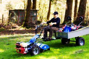 732withUtilityTrailerAndTiller 2000 300x200 - Walking Tractor Implements